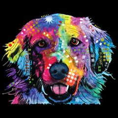 Golden Retriever - Neon -T-shirt