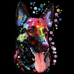 German Shephard - Neon - T-shirt