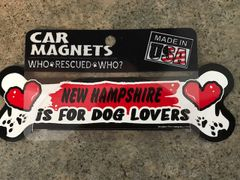 NH is for Dog Lovers Magnet