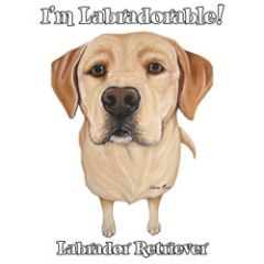 I'm Labradorable - Yellow Labrador -T-shirt