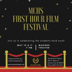 First Hour Film Festival, Saturday, May 11th, 6:00 pm