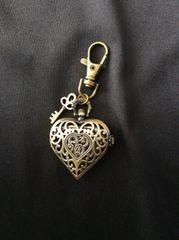 Heart watch purse charm