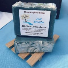 Just Breathe ~ Handcrafted Goat's Milk, Charcoal, Shea Butter, & Hemp Oil Soap