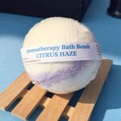 Bath Bombs ~ CITRUS HAZE Aromatherapy Bath Bomb ~ 4.5oz