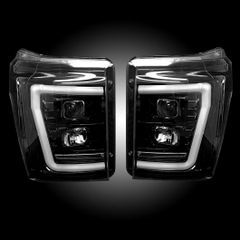 Recon 11-16 Superduty Smoked Projector Headlights