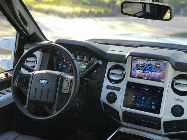 13 16 Superduty Ipad Mini In Dash Kit All Out Industries