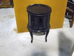 Round End Table - Dark Finish