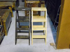 Wood Display Step Ladder