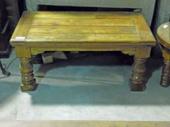 Rectangular Coffee Table with Turned Legs - Mango Wood