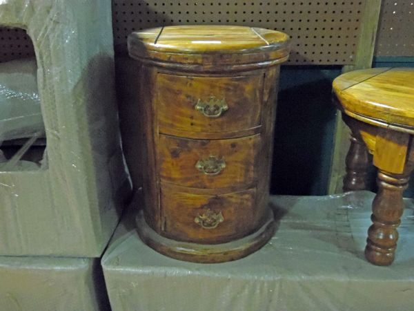 3 Drawer Round Column Chest Or End Table