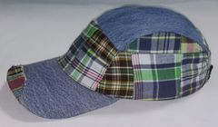 Denim and Plaid Ball Cap