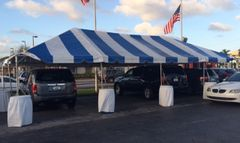 Blue-Stripe Tent Top / Sidewalls