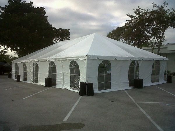 *30' x 70' Frame Tent (Single & Twin Tube Hybrid Aluminum) (Variety of Colors in 4, 5, 6, or 7-Piece)