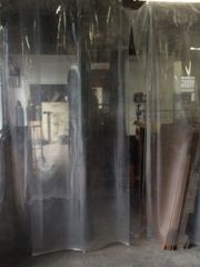 Clear Plastic Vinyl Enclosures / Sidewalls / Curtains in a Variety of Sizes (20 ml. / gauge) - Please contact us for pricing - Click on Picture