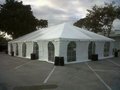 30' x 50' Frame Tent (Single Tube Aluminum) - White 1-Piece In Stock