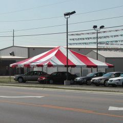 *30' x 30' Frame Tent (Single Tube Aluminum) - Same Price for White 1 or 2-Piece - In Stock