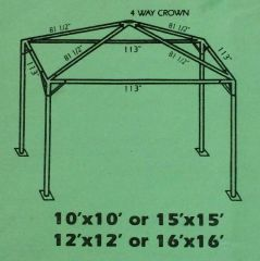 ***10' x 10' Portable Greenhouse Shade Structure SuperSale (Single Tube Aluminum) (Variety of Colors & Fabrics in 1-Piece 5 to 100% Blockout, Translucent, or Mesh)