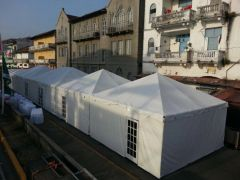 *30' x 10' Tent Sidewall (Solid White Premium Commercial Quality 13 Oz. w/ blockout)