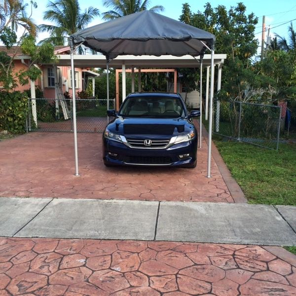 ***10' x 10' Portable Carport Structure SuperSale (Single Tube Aluminum) (Variety of Colors & Fabrics in 1-Piece 5 to 100% Blockout, Translucent, or Mesh)