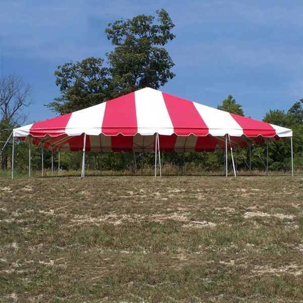 **40' x 40' Frame Tent SuperSale (Single Tube Aluminum) - White 2-Piece In Stock