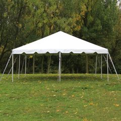 20' x 20' Frame Tent (Galvanized Steel) - White 1-Piece In Stock
