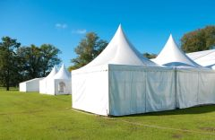 15' x 10' Tent Sidewall (Solid White Premium Commercial Quality 13 Oz. w/ blockout) - Free Shipping to Select Locations