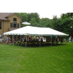 20' x 40' Frame Tent (Galvanized Steel) - White 1-Piece In Stock