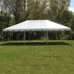 20' x 30' Frame Tent - White 1-Piece In Stock