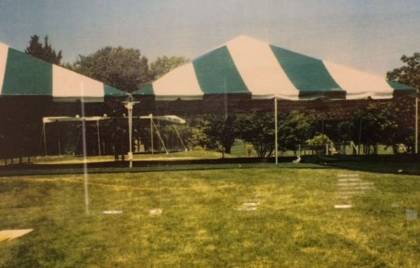 Green-Stripe Tent Top / Sidewalls