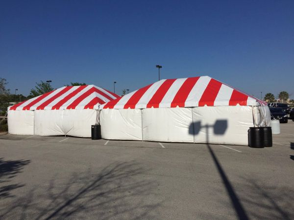 *10' x 7' or 8' Tent Sidewall (Solid White Premium Commercial Quality 13 Oz. w/ blockout) - Free Shipping to Select Locations