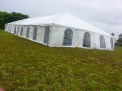 40' x 100' Disaster Relief Frame Tent / Shelter Package (Single & Twin Tube Hybrid Aluminum) (Same Price for 5 or 6-Piece)
