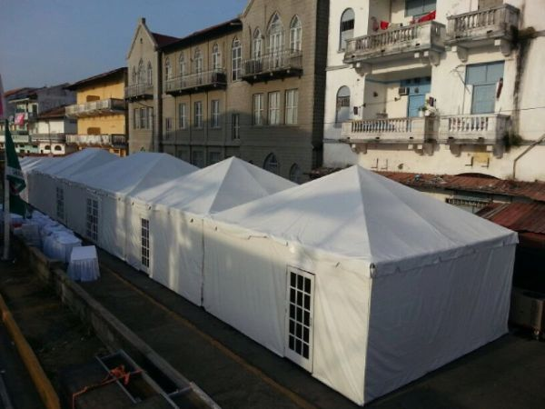 *30' x 9' Tent Sidewall (Solid White Premium Commercial Quality 13 Oz. w/ blockout)