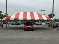 ***10' x 30' Portable Carport Structure SuperSale (Single Tube Aluminum) (Variety of Colors & Fabrics in 1 or 3-Piece 5 to 100% Shade Blockout, Translucent, or Mesh)