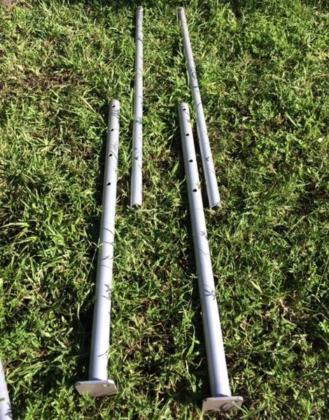 Aluminum 1-3/4 inch O.D. Leg Insert (For Adjustable Leg Set-Up on 8 Ft. to 20 Ft. Wide Tents) - Click on Pictures