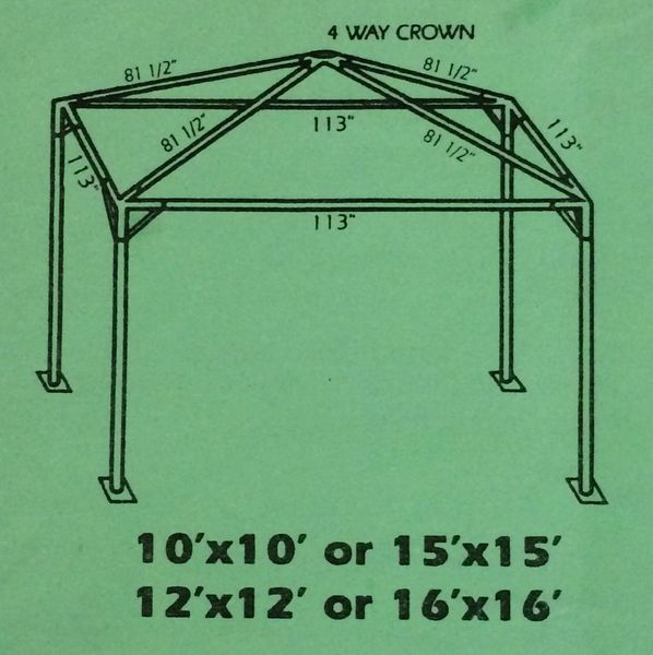 ***16' x 16' Portable Patio Shade Structure SuperSale (Single Tube Aluminum) (Variety of Colors & Fabrics in 1 or 2-Piece 5 to 100% Blockout, Translucent, or Mesh)