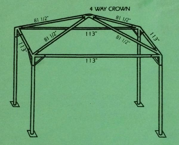 ***8' x 8' Portable Greenhouse Shade Structure SuperSale (Single Tube Aluminum) (Variety of Colors & Fabrics in 1 or 2-Piece 5 to 100% Vinyl Blockout, Translucent, or Mesh)