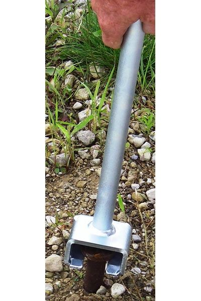 *Stake Adapter - AC0009 Tent Stake Adapter is used with the JackJaw models that have adjustable bases to remove flush pounded stakes or those used in stake bar systems - Click on Picture