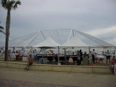 *30' x 80' Frame Tent (Single & Twin Tube Hybrid Aluminum) (Variety of Colors in 4, 5, 6, or 7-Piece)