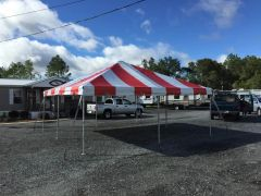 ***20' x 20' Portable Carport Structure SuperSale (Single Tube Aluminum) (Variety of Colors & Fabrics in 1 or 2-Piece 5 to 100% Shade Blockout, Translucent, or Mesh)