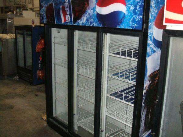 Used 3 Door Pepsi Cooler Sliding Door Used Equipment Is