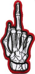 Middle finger (red)