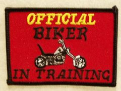 OFFICIAL BIKER IN TRAINING