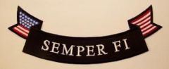 SEMPER FI W/ AMERICAN FLAG (BOTTOM ROCKER)