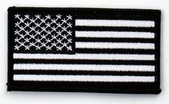 AMERICAN FLAG BLACK & WHITE (SMALL)