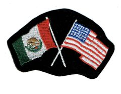 UNITED STATES AND MEXICO FLAGS TOGETHER