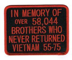 IN MEMORY OF.....VIETNAM 55-75 (RED)