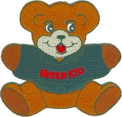 "Teddy Bear with ""Biker Kid"" on t-shirt"