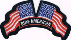 RIDE AMERICAN WITH MIRRORED FLAGS LARGE