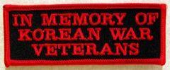 IN MEMORY OF KOREAN WAR VETERANS