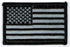 AMERICAN FLAG BLACK & SILVER (XSMALL)